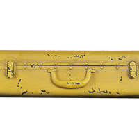 "24"" Suitcase Wall Shelf, Yellow"