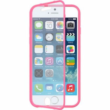 For Apple iPhone 6s / 6 Case, Built-in Screen Protector Easy Grip Full Body Armor Case for Iphone 6S/6 - Pink