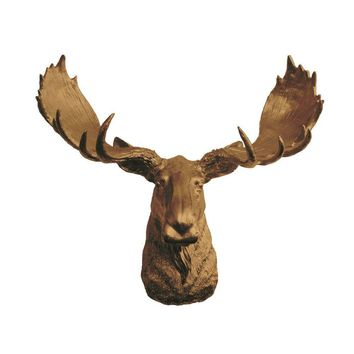 The Alberta | Moose Head | Faux Taxidermy | Bronze Resin