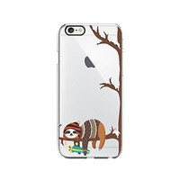 Cute Sloth Folivora Merry Christmas Transparent Silicone Plastic Phone Case for iphone 7 _ LOKIshop (iphone 7)