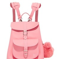 Katya Backpack with Bear Pom Pom