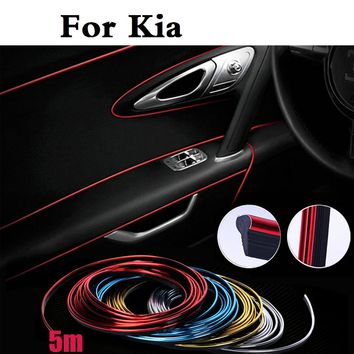 Auto Cold Line Decoration Trim Strips Sticker For Kia Opirus Optima Picanto Pride Quoris Rio Sorento Soul Spectra Sportage Venga