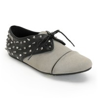 Volcom One Way Black & Grey Studded Oxford Shoes