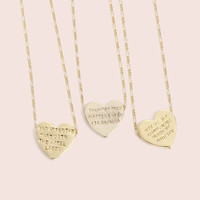 <3 Heartbeats Necklaces (14k Gold Plate)