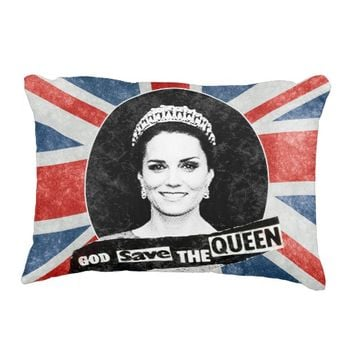God Save The Queen - Kate Middleton Accent Pillow
