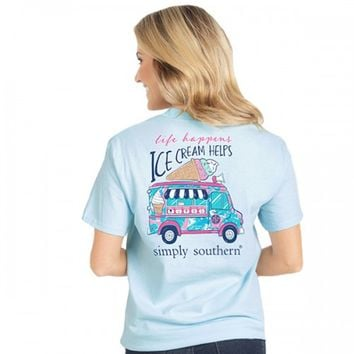 Preppy Ice Cream Tee by Simply Southern