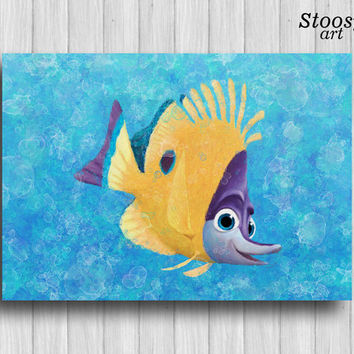 finding nemo wall art nautical poster nursery fishing decor disney pixar