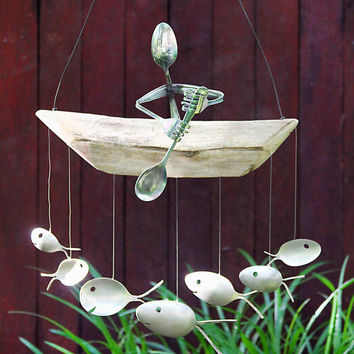 Paddle Trip, Spoon Man, and Fish Wind Chime