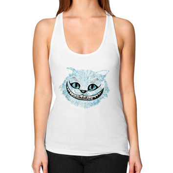Cheshire Cat blue Women's Racerback Tank