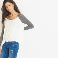 Baseball Sleeve Swing Top