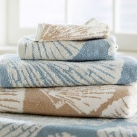 SHELL JACQUARD TOWELS