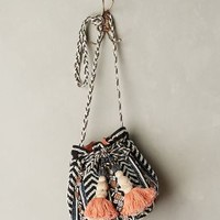 Festival Bucket Bag by Jasper & Jeera Blue Motif One Size Bags
