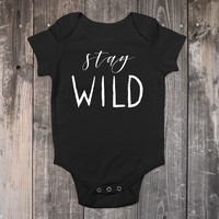 Stay Wild Baby Bodysuit - Boho Baby Outfit