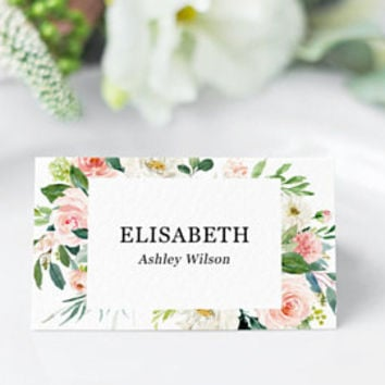 wedding place cards template editable pdf name place cards table cards for wedding