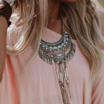 Silver Waters Statement Necklace