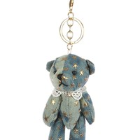 Blue Plush Bear Bag Accessory Key Chain