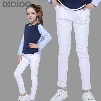 Pants for Girls Cotton Trousers Kids Pencil Pants for Girls Leggings Big Size Children Fall Clothes Girls Pants