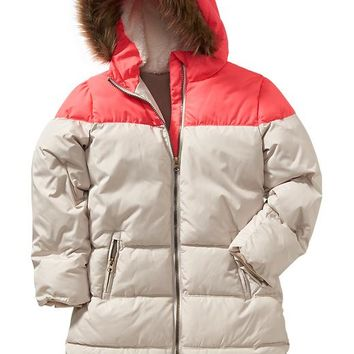Old Navy Girls Frost Free Colorblock Long Jacket
