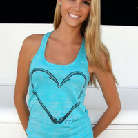 Heart Hook Design Tank Top