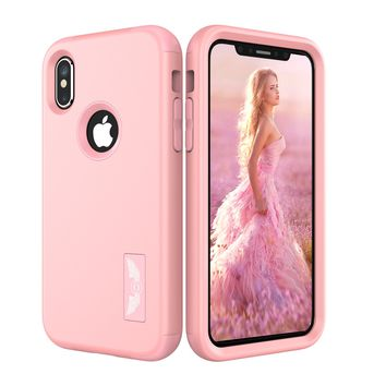 New For Apple iPhone X Protect Phone Cases Hybrid Dual Layers Shockproof TPU+Hard PC Phone Shell Cover for new iPhoneX Wholesale