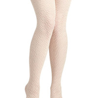 Pleasant Feather We're Having Tights | Mod Retro Vintage Tights
