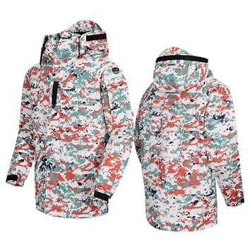 "New Premium ""SouthPlay"" Winter Season Waterproof 10,000mm Warming Ski & Snowboard White Red Military Jackets"