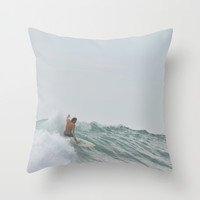 morning surf Throw Pillow by RichCaspian