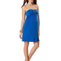 A Pea in the Pod: Strapless Drape Front Maternity Dress