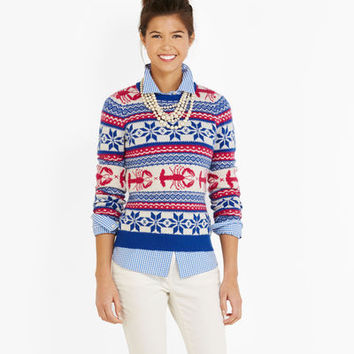 Holiday Sweaters for Women - Lobster Fair from vineyard vines