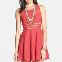 Women's Free People 'Daisy' Lace Fit & Flare Dress,
