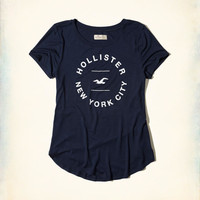 Girls Crew Easy Graphic Tee | Girls Tops | HollisterCo.com