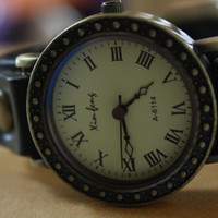 Leather Women Watch - Leather Wrist Watch - Women's Leather Wrist Watch