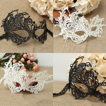 Cosplay 1pc Lace Hollow Half Face Eye Mask for Halloween Party Masquerade Ball