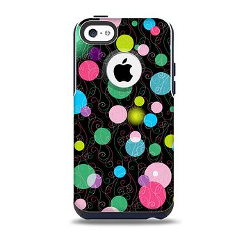 The Neon Colorful Stringy Orbs Skin for the iPhone 5c OtterBox Commuter Case