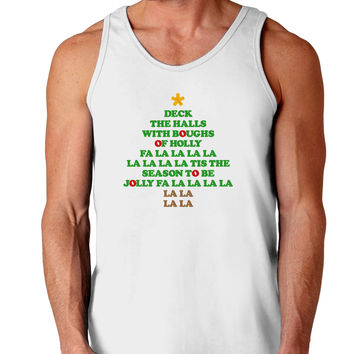 Deck the Halls Lyrics Christmas Tree Loose Tank Top