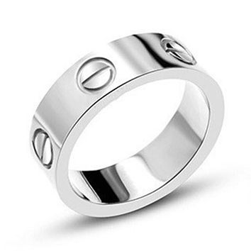 Lose money Promotion!316L Stainless Steel logo carter Love ring For Women Men wedding couple ring Logo Pulseira feminina jewelry