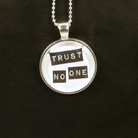 Trust No One Necklace - X-Files - Photo Jewelry