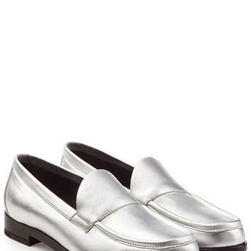 Pierre Hardy - Metallic Leather Loafers