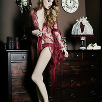Ruby Lace Dressing Robe