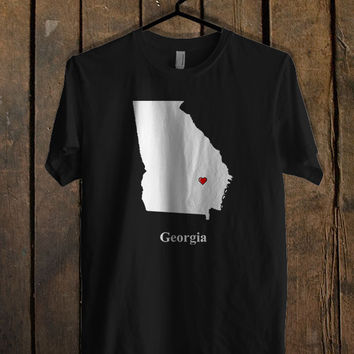 Georgia Love Map T Shirt Mens T Shirt and Womens T Shirt **
