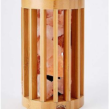 Bamboo Cage Himalayan Salt Lamp 3-5 lbs. - Spencer's