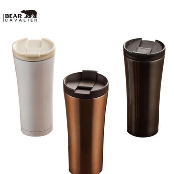 Hot Sale Double Wall Stainless Steel Coffee Thermos Cups Mugs Thermal Bottle 500 ml Thermocup Fashion Tumbler Vacuum Flask