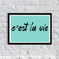 CLEARANCE / HALF PRICE/ damaged /quote/motivational / inspirational / art print / 13 x 19 / Tiffany Blue / home decor / dorm decor / college