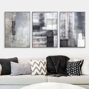 Nordic Scandinavian Abstract Art Canvas Art Print Wall Painting/Poster/Pictures for Bedroom Living Room Wall Art Home Decor Fram