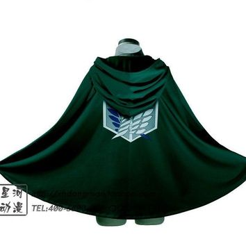 Cool Attack on Titan Hot Sale Japanese anime  Cosplay costume no  Cos Eren Men Cloak for Halloween AT_90_11