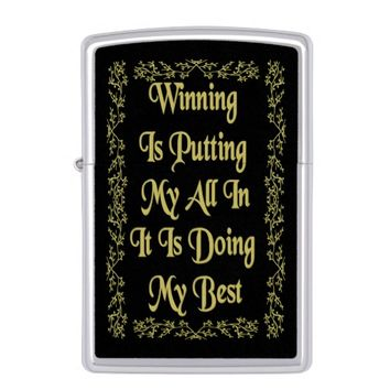Winning Gold Quote by Kat Worth Zippo Lighter