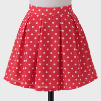 Jitterbug Polka Dot Skirt In Red