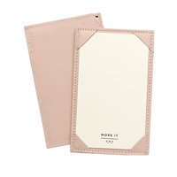 Nude French Calfskin Leather Jotter