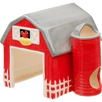 Petco Ceramic Red Barn Small Animal Hideaway