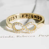 crystal best friend infinity rings,best friends rings,infinity rings,infinity jewelry,eternity rings,graduation rings,infinite rings